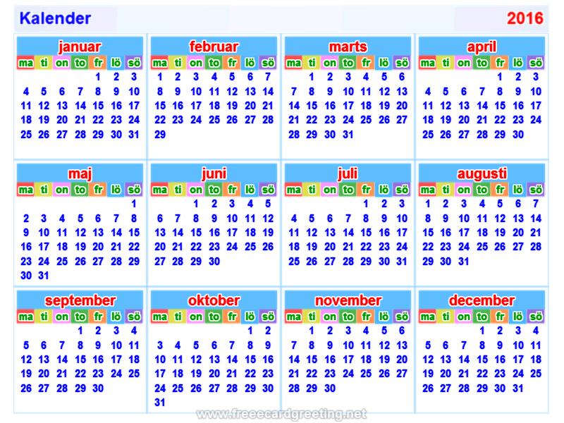 kalender 2016 horizontaal en verticaal calendar design calendar design ...