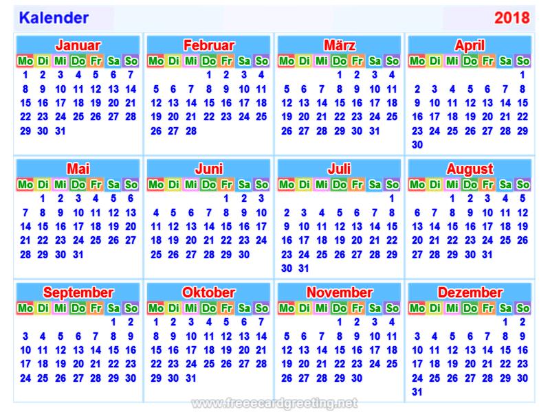 ... 2018 horizontal und vertikal calendar design calendar design map