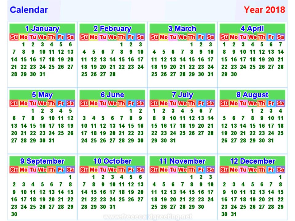 Calendar 2019 Laos