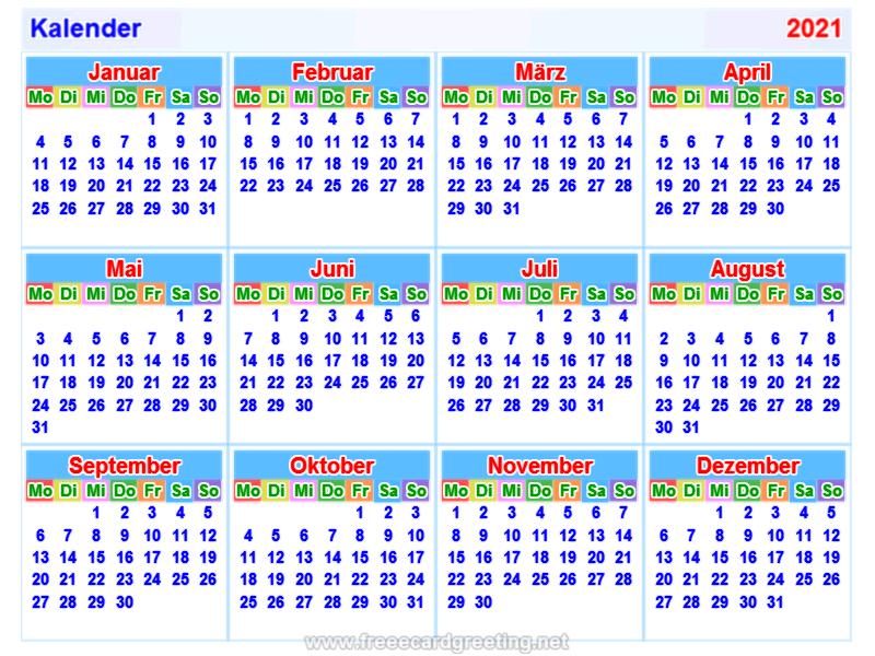 Kalender2021 german