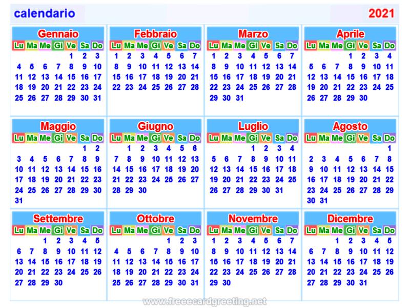 calendario2021 italian