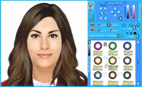 Admirable Virtual Contact Lenses Bigeye Online Short Hairstyles Gunalazisus