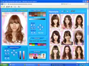 virtual Korean hair style